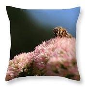 On Flower Mountain Throw Pillow