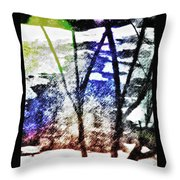 On Frozen Pond Throw Pillow