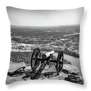 On Guard At Point Park Lookout Mountain In Tennessee Throw Pillow