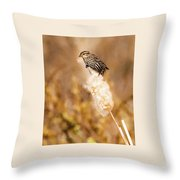 On Her Perch Throw Pillow