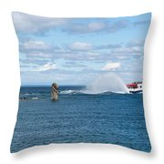 On It's Way Throw Pillow