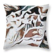 On My Mind She Sits Throw Pillow