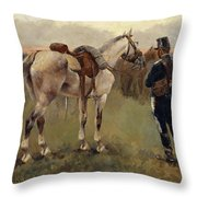 On Patrol In The Country Throw Pillow