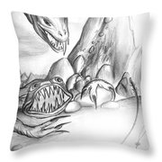 On Planet Of Monsters Throw Pillow