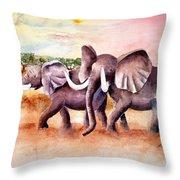 On Safari Throw Pillow