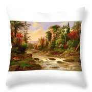 On St Annes East Canada Throw Pillow