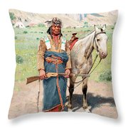 On The Alert Throw Pillow