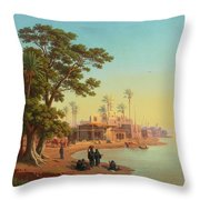 On The Banks Of The Nile Throw Pillow