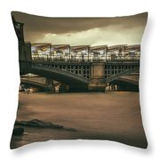 On The Beach? - 2016/l/04 Throw Pillow