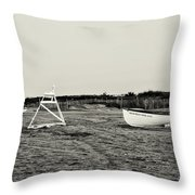 On The Beach - Avalon New Jersey In Sepia Throw Pillow