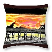 On The Beach Throw Pillow by Bill Cannon
