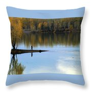 On The Bend Of The River Throw Pillow