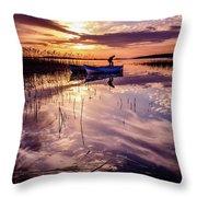 On The Boat Throw Pillow by Okan YILMAZ