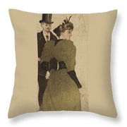 On The Boulevards Throw Pillow