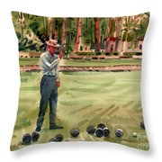 On The Bowling Green Throw Pillow