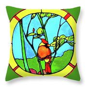 On The Branch Throw Pillow