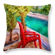 On The Canal Throw Pillow