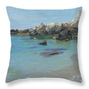 On The Capri Coast Throw Pillow by Paul von Spaun