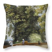 On The Castle Wall, Exeter Throw Pillow