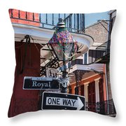 On The Corner Of Royal Street Throw Pillow