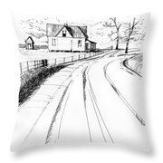 On The County Line Throw Pillow