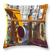 On The Deck Of James Craig Throw Pillow