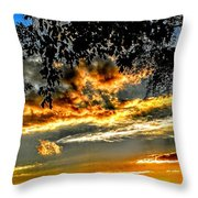 On The Edge Of Night Throw Pillow