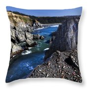 On The Edge Of The Blue Lagoon Throw Pillow