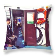 On The Edgecumbe Belle Throw Pillow