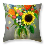 On The Eve Of Autumn Throw Pillow