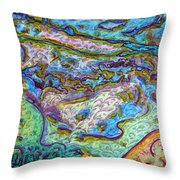 On The Flats Throw Pillow