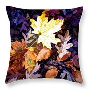 On The Forest Floor Vivid Colors Throw Pillow