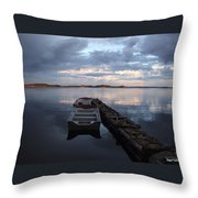 On The Gouin Reservoir In Quebec Throw Pillow