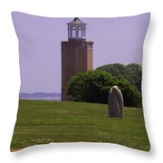 On The Green Throw Pillow