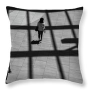 On The Grid Throw Pillow by Eric Lake