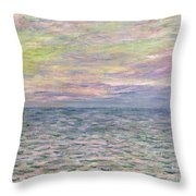 On The High Seas Throw Pillow by Claude Monet