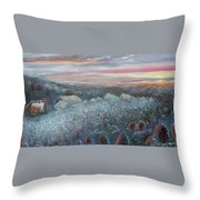 On The Hill At Greyfox Throw Pillow
