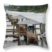 On The Hillsboro Canal Throw Pillow