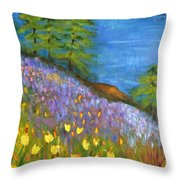 On The Hillside Throw Pillow