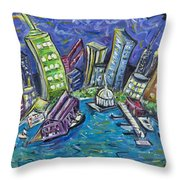 On The Hudson Throw Pillow