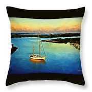 On The Intracoastal Isle Of Palms Sc Throw Pillow