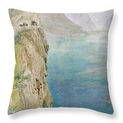 On The Italian Coast Throw Pillow