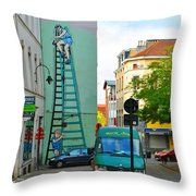 On The Ladder Throw Pillow