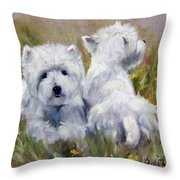 On The Lawn Throw Pillow