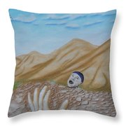 On The Ledge Throw Pillow