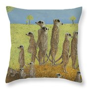 On The Lookout Throw Pillow