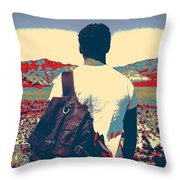 On The Move In The Wilderness Throw Pillow