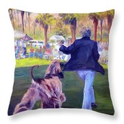 On The Move Throw Pillow by Terry  Chacon