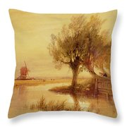 On The Norfolk Broads Throw Pillow