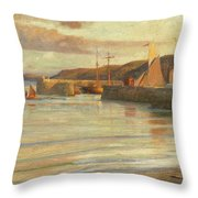 On The North Devon Coast Throw Pillow